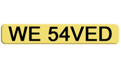 Private car number plate for a banker, accountant, financial advisor WE 54VED